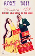 """Movie Posters:Comedy, The Awful Truth (Columbia, 1937). Window Card (14"""" X 22"""").. ..."""