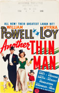 "Movie Posters:Mystery, Another Thin Man (MGM, 1939). Window Card (14"" X 22"").. ..."