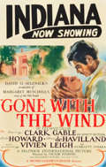 "Movie Posters:Academy Award Winners, Gone with the Wind (MGM, 1939). Full-Bleed Window Card (14"" X 22"")Roadshow Style.. ..."