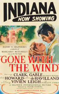 "Gone with the Wind (MGM, 1939). Full-Bleed Window Card (14"" X 22"") Roadshow Style"