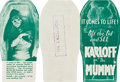 "Movie Posters:Horror, The Mummy (Universal, 1932). Herald (3"" X 9"" folded, 6"" X 9""unfolded).. ..."