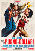 "Movie Posters:Western, A Fistful of Dollars (Unidis, 1964). Italian 4 - Foglio (55"" X77.5"").. ..."