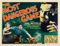 "Movie Posters:Horror, The Most Dangerous Game (RKO, 1932). Half Sheet (22"" X 28"").. ..."