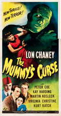 "Movie Posters:Horror, The Mummy's Curse (Universal, 1944). Three Sheet (40.75"" X79.25"").. ..."