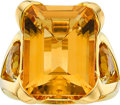 Estate Jewelry:Rings, Citrine, Gold Ring, Asprey. ...