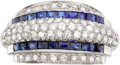 Estate Jewelry:Rings, Retro Diamond, Sapphire, Platinum Ring. ...