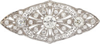 Art Deco Diamond, Platinum, Gold Brooch