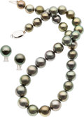 Estate Jewelry:Pearls, South Sea Cultured Pearl, White Gold Jewelry Suite . ... (Total: 2Items)