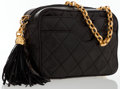 Luxury Accessories:Bags, Chanel Black Quilted Lambskin Leather Camera Bag with GoldHardware. ...