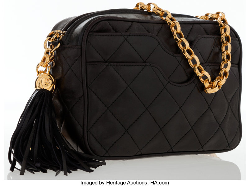 503c6519f54c Luxury Accessories:Bags, Chanel Black Quilted Lambskin Leather Camera Bag  with GoldHardware.