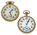 Timepieces:Pocket (post 1900), Two Hamilton 21 Jewels Open Face Pocket Watches. ... (Total: 2 Items)