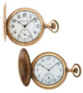 Timepieces:Pocket (post 1900), Rockford & Elgin Hunter's Case Pocket Watches. ... (Total: 2 Items)