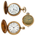 Timepieces:Pocket (post 1900), Two Lady's Pocket Watches & One Pendant. ... (Total: 3 Items)