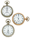 Timepieces:Pocket (post 1900), Ingersoll Pocket Watch, Stop Watch & Timer. ... (Total: 3Items)