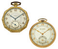 Timepieces:Pocket (post 1900), Bulova & Elgin 12 Size Pocket Watches. ... (Total: 2 Items)
