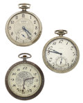 Timepieces:Pocket (post 1900), Three 12 Size Open Face Pocket Watches Runners. ... (Total: 3Items)