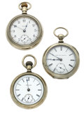 Timepieces:Pocket (post 1900), A Lot Of Three 18 Size Pocket Watches. ... (Total: 3 Items)