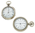 Timepieces:Pocket (post 1900), Two 18 Size Open Face Private Labels Pocket Watches. ... (Total: 2 Items)