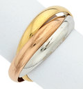 Estate Jewelry:Rings, Tricolor Gold Ring, Cartier. ...