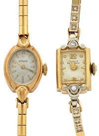 Girard Perregaux & Le Coultre 14k Gold Wristwatches