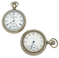 Two Elgin's 18 Size Open Face Pocket Watches