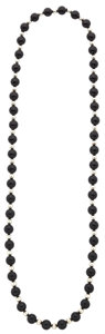 Estate Jewelry:Necklaces, Black Onyx, Sterling Silver Necklace. ...