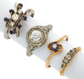 Estate Jewelry:Lots, Diamond, Sapphire, Gold Rings. ... (Total: 4 Items)
