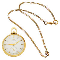 Wittnauer 17 Jewel Open Face Pocket Watch