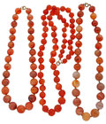 Estate Jewelry:Necklaces, Agate, Carnelian, Gold-Filled, Brass Necklaces. ... (Total: 3Items)
