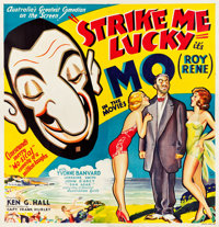 "Strike Me Lucky (Z Films, 1934). Australian Six Sheet (78.5"" X 81.75"")"
