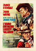 "Movie Posters:Western, The Man Who Shot Liberty Valance (Paramount, 1962). Italian 4 -Foglio (55"" X 78""). Western.. ..."