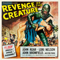 "Movie Posters:Horror, Revenge of the Creature (Universal International, 1955). Six Sheet(78"" X 81"").. ..."