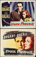 "Movie Posters:Film Noir, Dark Passage (Warner Brothers, 1947). Title Lobby Card & LobbyCard (11"" X 14"").. ... (Total: 2 Items)"