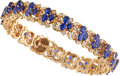 Estate Jewelry:Bracelets, Sapphire, Diamond, Gold Bracelet. ...