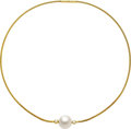 Estate Jewelry:Necklaces, South Sea Cultured Pearl, Diamond, Sapphire, Gold Necklace. ...