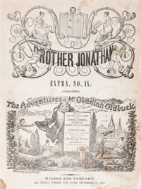 The Adventures of Mr. Obadiah Oldbuck - First Printing - Brother Jonathan Extra IX (Wilson Publishing, 1842) Condition:...