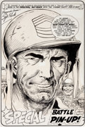 Original Comic Art:Splash Pages, Joe Kubert Our Army at War #200 Sgt. Rock Pin-Up PageOriginal Art (DC, 1968)....