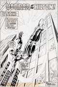 "Original Comic Art:Splash Pages, James Craig Mighty World of Marvel #218 ""Horror at theHilton!"" Daredevil Splash Page Original Art (Marvel UK, 197..."