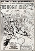 "Original Comic Art:Splash Pages, Dick Ayers and John Tartaglione Sgt. Fury #30 ""Incident inItaly"" Splash Page 1 Original Art (Marvel, 1966)...."