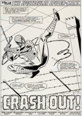 Original Comic Art:Splash Pages, Sal Buscema and Mike Esposito Spectacular Spider-Man #155Splash Page 1 Original Art (Marvel, 1989)....