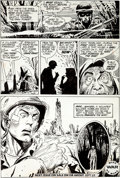 Original Comic Art:Panel Pages, Joe Kubert - DC War Comic Page 6 Original Art (DC, 1971)....