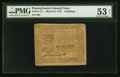 Colonial Notes:Pennsylvania, Pennsylvania March 25, 1775 4s PMG About Uncirculated 53 Net.. ...