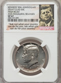 Kennedy Half Dollars, 2014-P 50C High Relief, Clad, 50th Anniversary, Chicago August ANAInaugural Release 1964-2014, SP67 NGC. NGC Census: (478/...