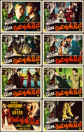 "Movie Posters:Film Noir, Out of the Past (RKO, 1947). Lobby Card Set of 8 (11"" X 14"").. ...(Total: 8 Items)"