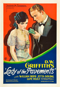 "Lady of the Pavements (United Artists, 1929). One Sheet (28"" X 41"")"