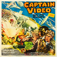 "Captain Video, Master of the Stratosphere (Columbia, 1951). Six Sheet (80"" X 81"")"