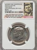 Kennedy Half Dollars, (2) 2014-P 50C High Relief, Clad, 50th Anniversary, Chicago AugustANA Inaugural Release 1964-2014, SP67 NGC. NGC Census: (... (Total:2 coins)