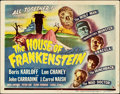 "Movie Posters:Horror, House of Frankenstein (Universal, 1944). Autographed Title LobbyCard (11"" X 14"").. ..."