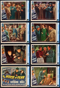 """The House of Fear (Universal, 1944). CGC Graded Lobby Card Set of 8 (11"""" X 14""""). ... (Total: 8 Items)"""