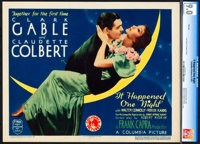 "It Happened One Night (Columbia, 1935). CGC Graded Title Lobby Card (11"" X 14"") 1935 Academy Award Style"